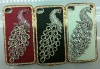 for iphone 4g&4s Newest peacock design diamond hard case