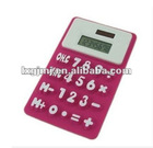 8 digit solar foldable silicone calculator with magnet on the back