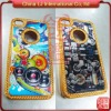 Luxury metal hard case for iphone4, custom crystal sleeve for iphone