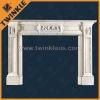 China Natural Stone Fireplace Designs