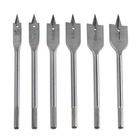 6pc Wood Boring Spade Drill Bit Set - #10 to 1 Inch - High Speed Steel