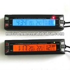 Car Digital Thermometer with Voltage Measuring with Digital Clock