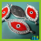 fashion 15.4*34mm alloy eye beads for jewelry making TR114