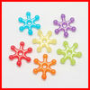 Imitation Jelly Acrylic Beads Snowflake for Christmas(JACR-S005-16mm-M)