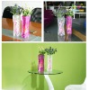 Clear plastic trendy vase for decorative