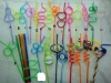 high quality plastic colorful artistic straws