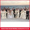 tulle strapless wedding dress,chiffion off-shoulder bridesmaid dress,flower girl dress