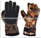 2.5mm neoprene with fleece camo hunting gloves