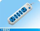 5 way power strip with main switch