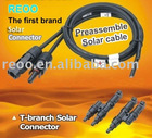 Preassemblied solar cable