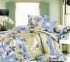100%Cotton Reactive Printed colorful home textile 4pcs Bedding Set