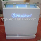quality wood display counter with painting