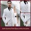 2012-13 Autumn Winter White Men's Wedding Suit