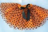 wholesale halloween orange ballet tutus with black polka dot