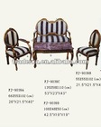 9039 wooden carved tea table and chair with sofa cushion