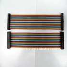 1.27mm rainbow ribbon Cable with IDC 34-pin Female Connector, Used for Electronic Device Data Cables