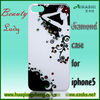 pc with diamond for iphone5 mobile phone case