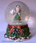 Christmas Music Box Christmas Music Ball Glass Music Box Christmas Gift and Customized design is ok