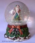 Christmas Music Box Christmas Music Ball Glass Music Box Christmas Gift and Customized design is ok