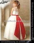 A-Line Bateau Applique Beading Floor-Length Heavy Satin Girl Dresses child wear little queen Flower Girls' Dresses
