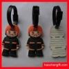 Boys shape 3D rubber name card bag tag