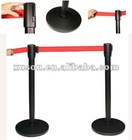 Titanium Golden Plating Retractable Belt StandPosting in Public place for crowd control and queue line waiting