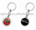 metal bacardi key chain