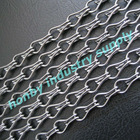Double hook link 12mm size light gun metal color aluminum chain fly screen