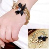 2013 new arrival fashion plated decent design chain link bracelet gold
