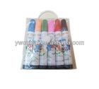 12pc 8.5*1.4cm big felt tip plastic box packed set,PP body, fibre ink filled lead