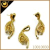 manufacturer 18k gold plated jewelry set hot sale 2012 new design