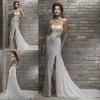 Wholesale price fabulous sweetheart side slit lace wedding dress