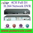 4CH Full D1 DVR H.264