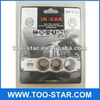 1 to 3 Car Cigarette Lighter Socket DC Power Adapter Splitter w/ 1 USB Port