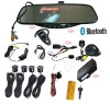 Wireless bluetooth handfree with 3.5 inch TFT screen with reverse camera and parking sensor(WBT-728SEC4)