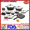 Die casting Aluminum Non stick Cookware Set|Induction bottom|Ceramic coating|Marble coating|Saucepan|Soup Pot|Double pan|Roaster