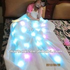 2012 new style fashion and colorful lighted led blanket