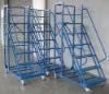 supermarket ladder climbing trolly metal ladder truck (YES-LT-H61515-Blue)