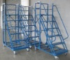 supermarket ladder climbing trolly metal ladder truck (YES-LT-H61515-Blue)