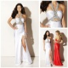 MP1374 New Design Sexy Halter Hot-sale Backless Keyhole Ivory Prom Dresses 2012 New Arrival