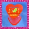 Red heart shape acrylic charity box