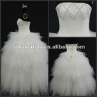 hot sale beautiful hand-made beads new stlye wedding dress 2013