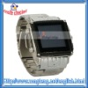 "New 1.5 "" OLED Touch Screen Stainless Steel Waterproof W81 Watch Mobile Phone Black With Silver"