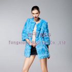 BG22801 Genuine Rabbit Fur Clothes Women 2012 Fashion OEM Wholesale/Retail