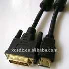 Gold plated HDMI to DVI Cable