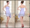 2013 Fashion Lavender Sheath Sweethart Beading Chiffon Cocktail Dresses For Woman