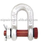 hot dip galvanized HDG drop forged bolt - type shackle