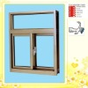 pvc window grill design with AS2208 double glazing glass