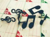 music brads for scrapbooking,music shaped