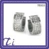 wholesale high quality jewelries titanium crystal bead hoop earrings
